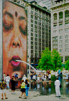 The Crown Fountain in Millennium Park, Chicago