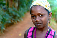 Beautiful girl from a village in South of India.